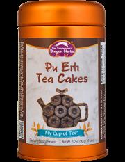 Pu Erh Tea Cakes - Stackable Tin Can