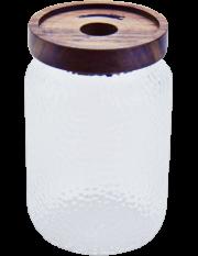 Hammered Glass Jar 900 ml