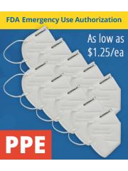 KN95 Respirator Mask PPE FDA Emergency Use Authorization EUA-10 pack