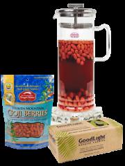 Goji Tea Kit with Large Pot