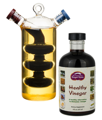 Vinaigrette Bottle + Healthy Vinegar 8 oz.