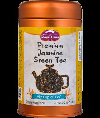 Jasmine Pearl Tea (Green Tea) - Stackable Tin Can