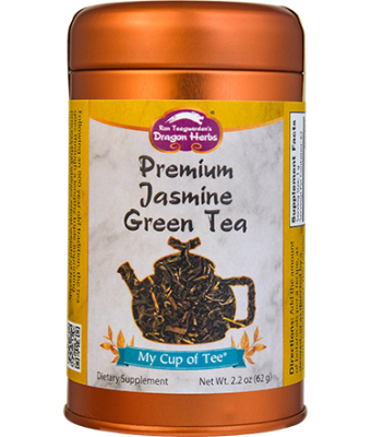 Premium Jasmine Green Tea - Stackable Tin Can
