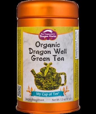 Organic Dragon Well Green Tea - Stackable Tin Can