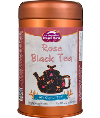 Rose Black Tea - Stackable Tin Can