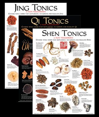 Jing, Qi, Shen Tonic Poster Set