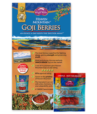 Heaven Mountain Goji Berries Sample with Brochure