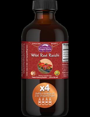 Wild Red Reishi Drops -- 8 fl. oz.