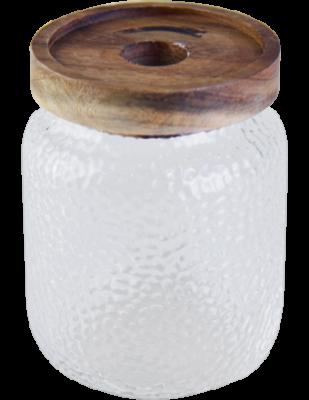 Hammered Glass Jar 700 ml