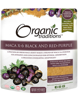 Maca X-6 Black and Red-Purple, Organic Traditions