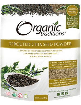 Sprouted Chia Seed Powder, Organic Traditions