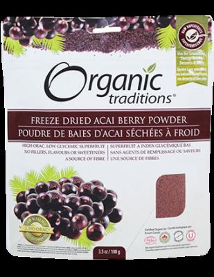 Acai Berry Powder, Freeze Dried Organic Traditions