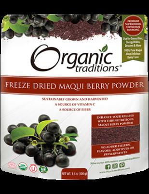 Maqui Berry Powder, Freeze Dried Organic Traditions
