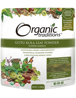 Gotu Kola Leaf Powder, Organic Traditions