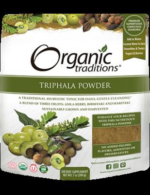 Triphala Powder, Organic Traditions
