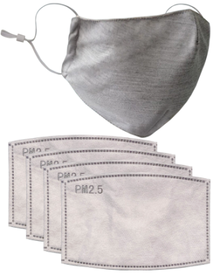 Reusable Face Mask with 4 Replaceable Filters