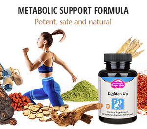 Lighten Up formula as a natural aid for weight loss