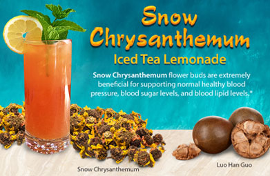 Snow Chrysanthemum Iced Tea Lemonade Recipe