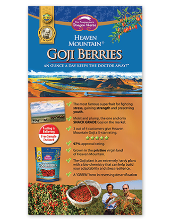 Heaven Mountain Goji berries brochure