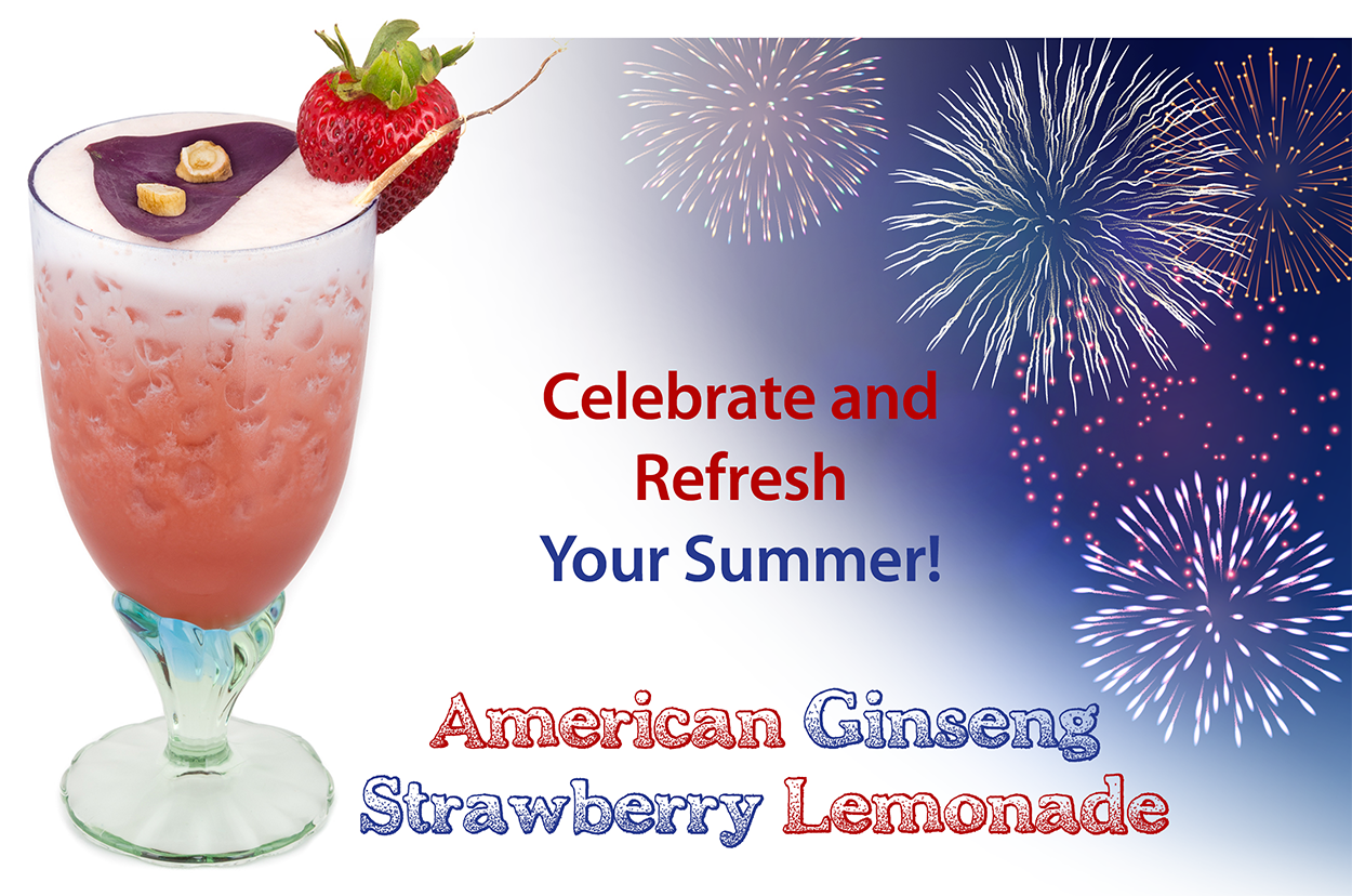 American Ginseng Strawberry Lemonade